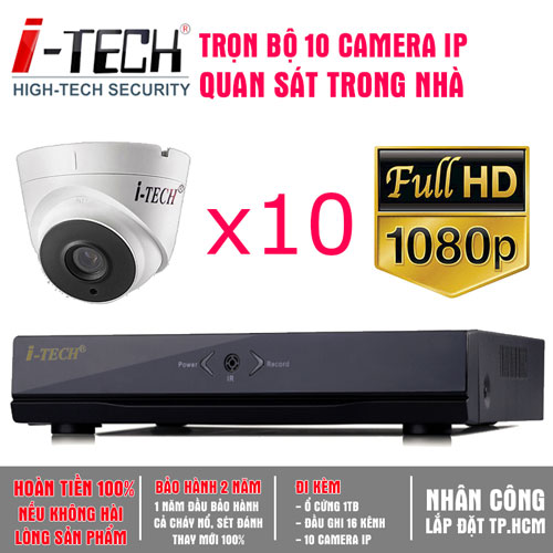 Bộ 10 Camera IP 2.0 Megapixel  iTech-CX20