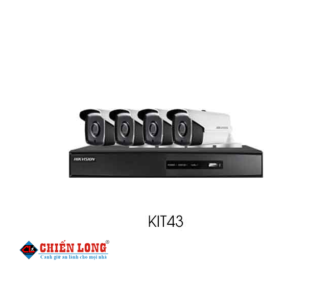 BỘ KIT CAMERA IP HD720P HIKVISION KIT43