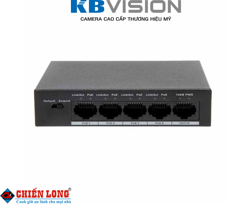 Switch PoE 4 x 10/100Mbps Kbvision KX-ASW04P1