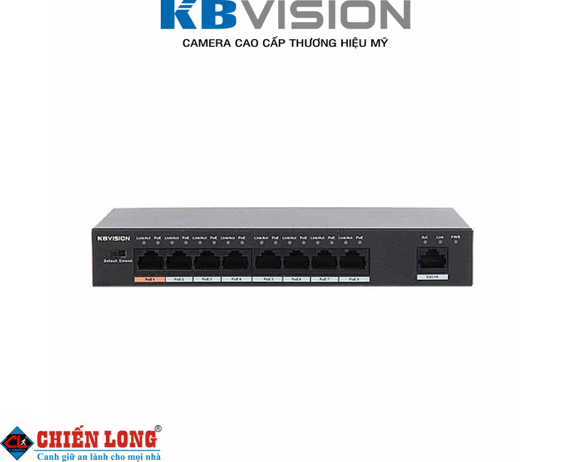 Switch PoE 8 x 10/100Mbps Kbvision KX-ASW08P1