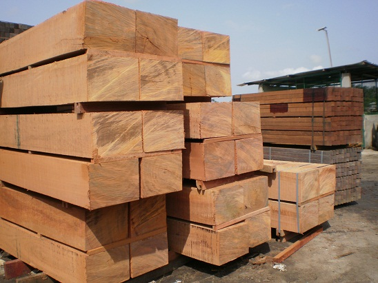 Laotian businessman providing wood products