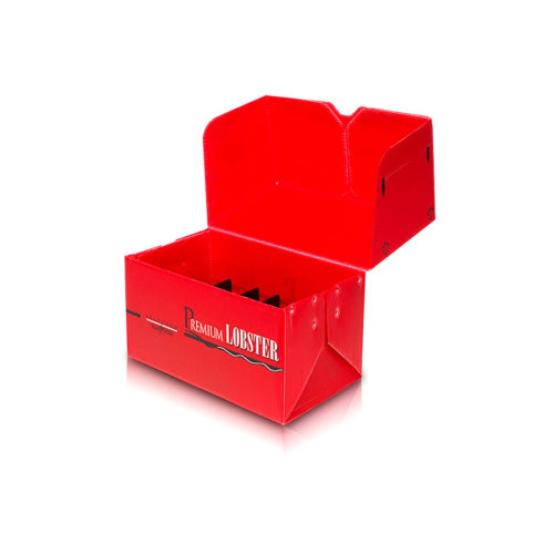 Red color Danpla box