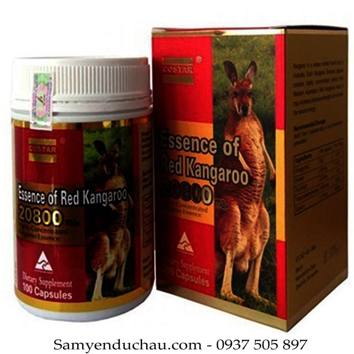 TPCN: Tăng cường sinh lực đàn ông - Essence of Red Kangaroo 20800 ( 100 viên) - Úc