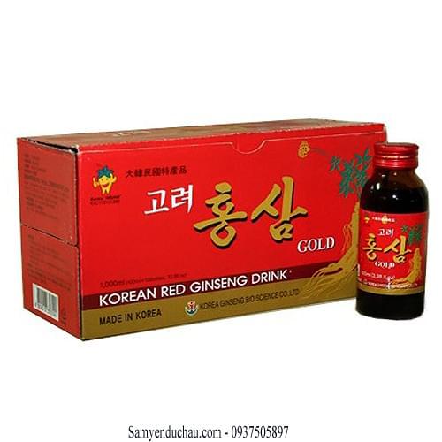TPCN: Nước Uống Hồng Sâm BIO Hàn Quốc 10 chai 100ml
