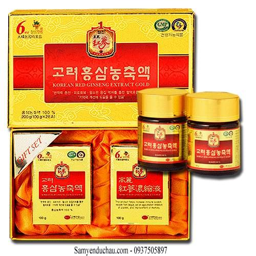 TPCN: Cao Hồng Sâm 6 năm tuổi cô đặc KGS Hàn Quốc (Ginsenoside Rg1+Rb1+Rb3 = 4.5 mg/g)