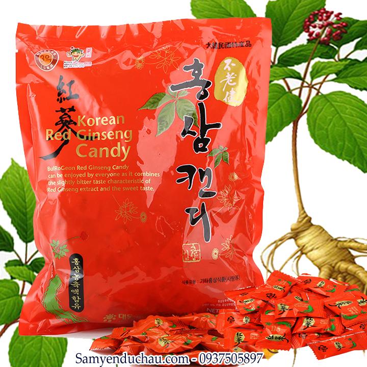 TPCN:  Kẹo hồng sâm hàn quốc 500gr Daedong