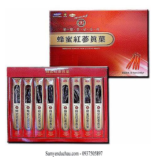 TPCN:  Hồng Sâm Củ Tẩm Mật Ong 8 củ 200gr BIO