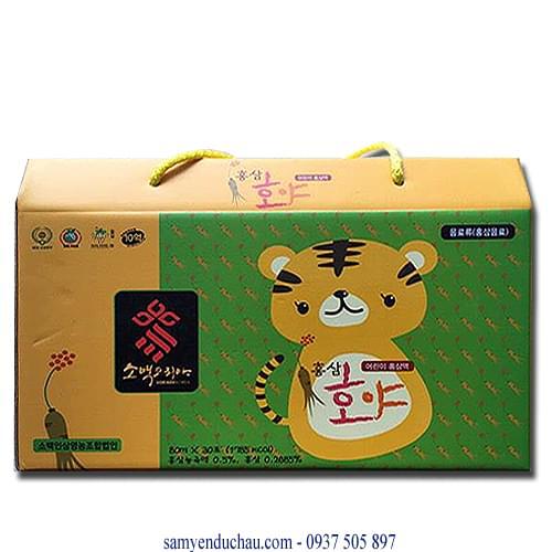 TPCN: Chiết xuất Hồng Sâm Baby trẻ em Hổ Nhi SOBAEK 80ml x 30 gói