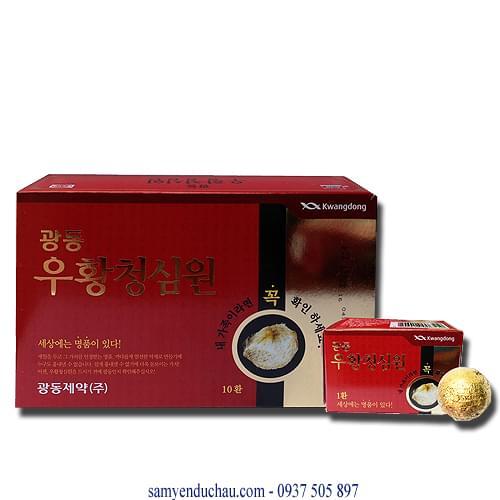 An Cung Ngưu Hoàn Hàn Quốc Hộp Đỏ Kwangdong