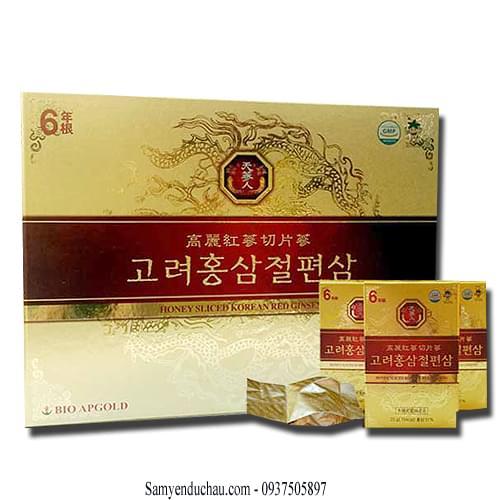 TPCN: Hồng Sâm lát tẩm mật ong BIO APGOLD Hàn Quốc