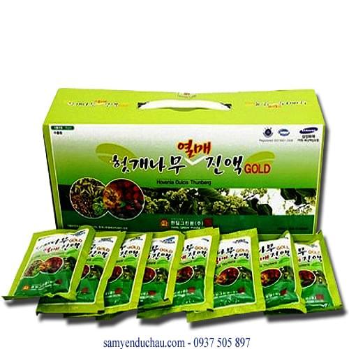 TPCN: Nước Bổ Gan 30 gói 2 tem BIO Hàn Quốc chính hãng