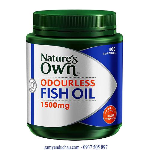 TPCN: Dầu cá không mùi Nature's Own Odourless Fish Oil 1500mg(400 viên )