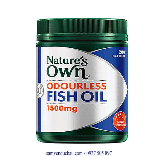 TPCN: Dầu cá không mùi Nature's Own Odourless Fish Oil 1500mg (200 viên )