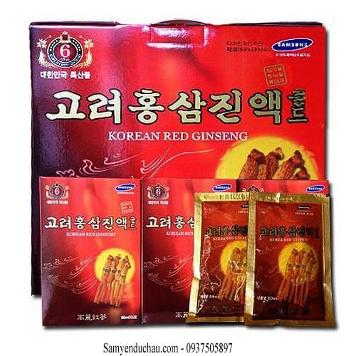 TPCN: Nước Tinh Chất Sâm KANGHWA Hàn Quốc 60 Gói