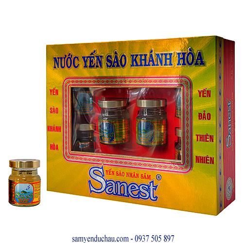 Nước Yến Sâm Khánh Hòa  (hop/6lo) (NY4)