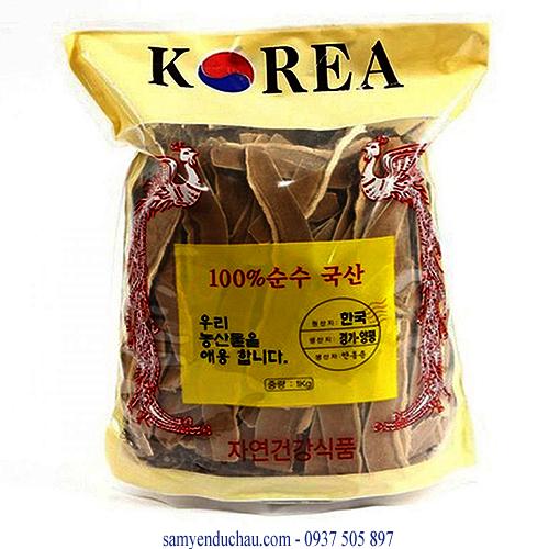 TPCN: Nấm Linh Chi Vàng xắt lát Hàn Quốc loại 1kg