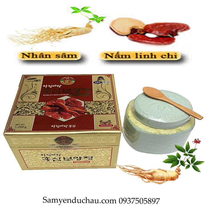 TPCN: Cao Hồng Sâm Linh Chi Hàn Quốc 1,2 kg