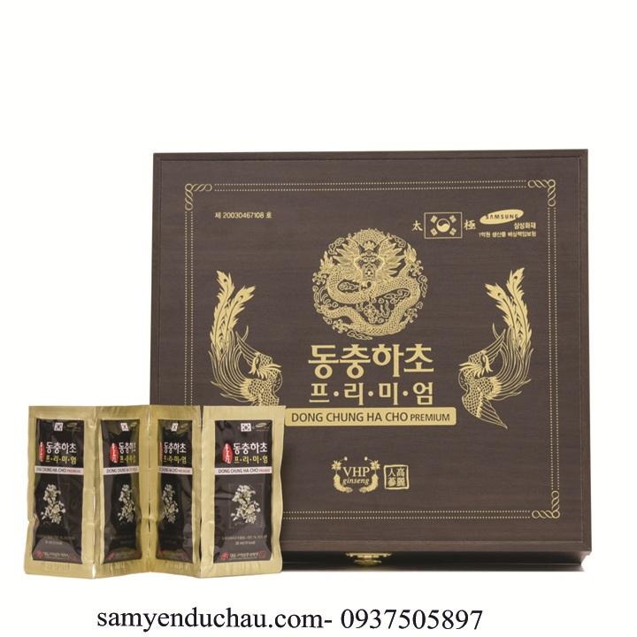 TPCN:Đông trùng hạ thảo hộp gỗ đen Premium (30ml x 60 gói)