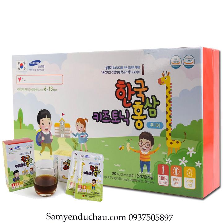 TPCN:Hồng sâm trẻ em Daedong 6-13 tuổi 30 gói x 20ml – Korean red ginseng junior