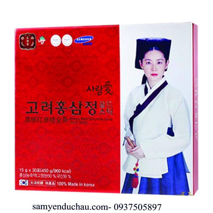 TPCN:Hộp 30 Gói nước Hồng Sâm Hàn Quốc Jung Gold Stick (15g/gói)