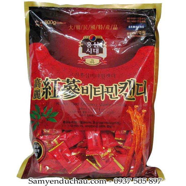 Kẹo Hồng Sâm Vitamin