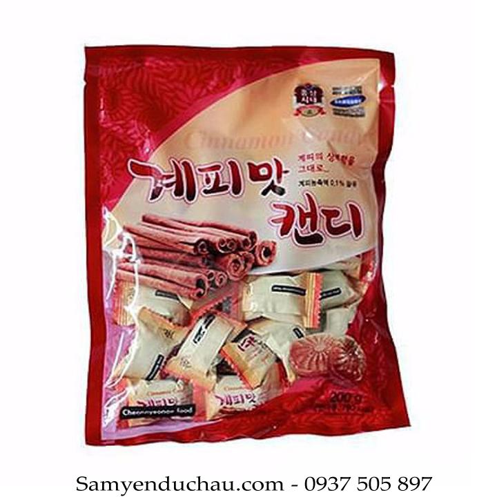 TPCN:Kẹo Quế Cứng Hàn Quốc CHEONNYEONAE FOOD 200g loại 1