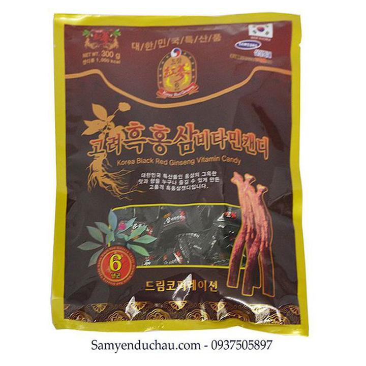 TPCN:Kẹo Hắc Sâm Vitamin Korea Black Red Ginseng Vitamin Candy (300g)