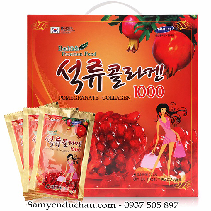 TPCN:Nước Lựu Collagen Hàn Quốc 80ml x 30 gói