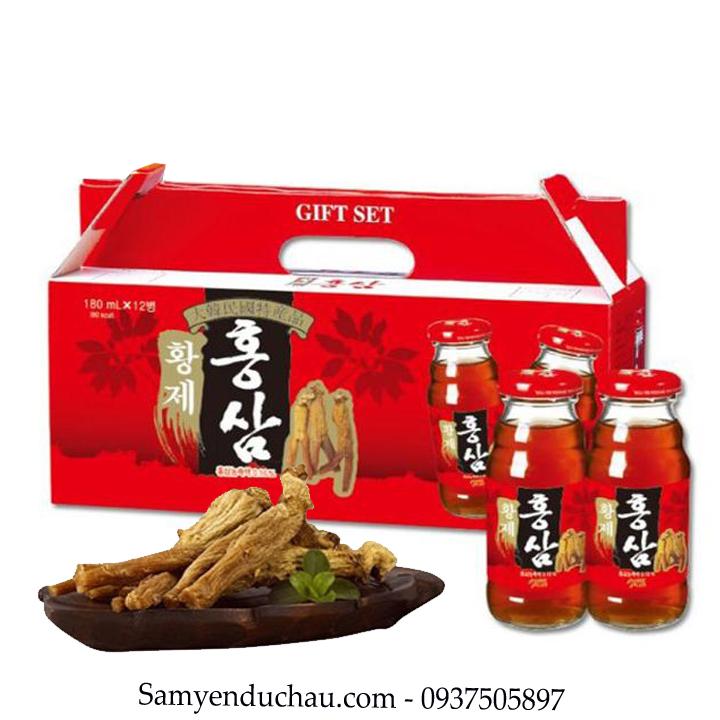 TPCN:Nước Hồng Sâm PURE PLUS Hàn Quốc  Hộp 12 Chai * 180ml