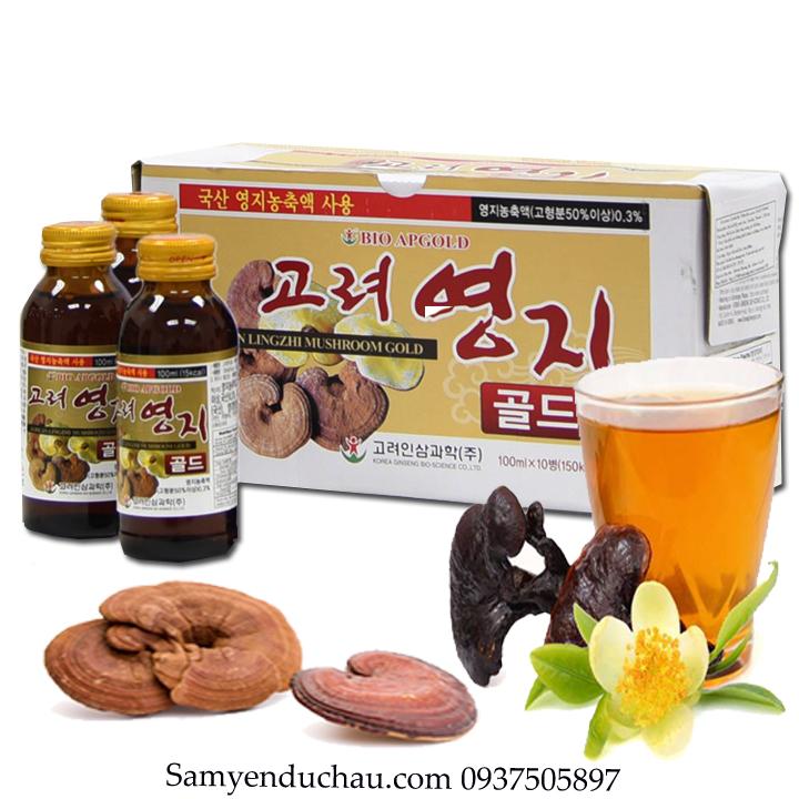 TPCN:Nước Uống Linh Chi Hàn Quốc BIO 10 chai 100ml