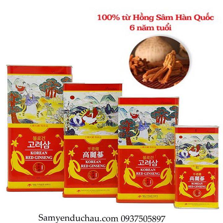 TPCN: Hồng Sâm Củ Sấy Khô DAEDONG 150gr ( Mẫu Mới )