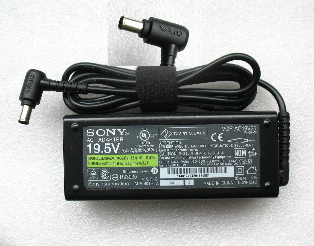 Sạc laptop Sony Vaio 19v - 4.7A Adapter