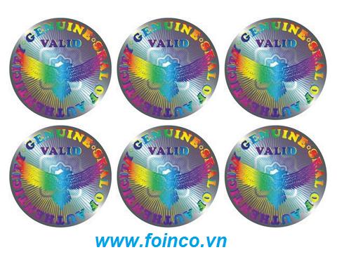 In tem chống hàng giả 7 màu (hologram)