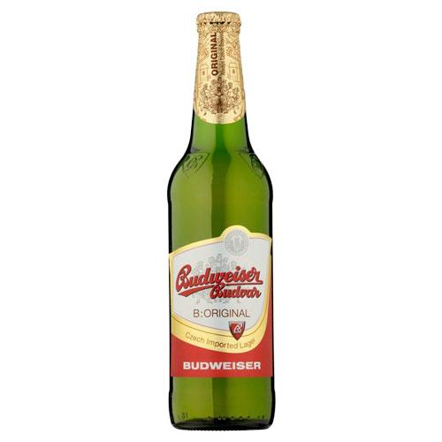 Bia Budweiser Budvar Original 5% – Chai 330ml – Thùng 24 Chai