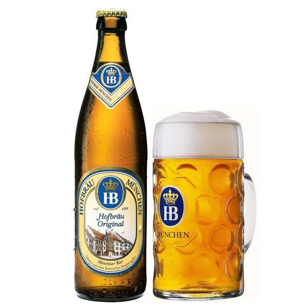 Bia HB Hofbrau Munchen Hofbrau Original 5,1% – Chai 500ml – Thùng 20 Chai