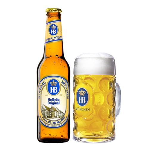 Bia HB Hofbrau Munchen Hofbrau Original 5,1% – Chai 330ml – Thùng 24 Chai