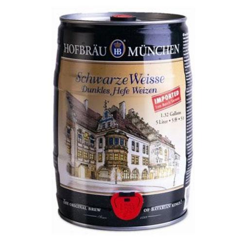 Bia Hofbräu Schwarze Weisse 5.1% – Bom 5 Lít