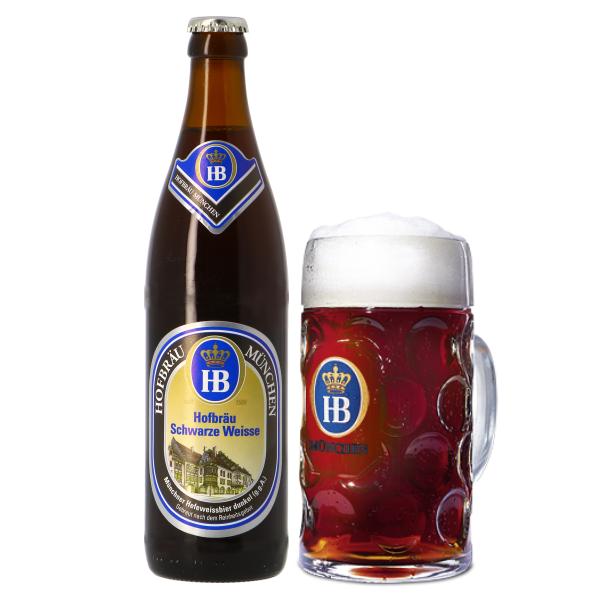 Bia Hofbrau Munchen Hofbrau Schwarze Weisse 5,1% – Chai 500ml – Thùng 20 Chai