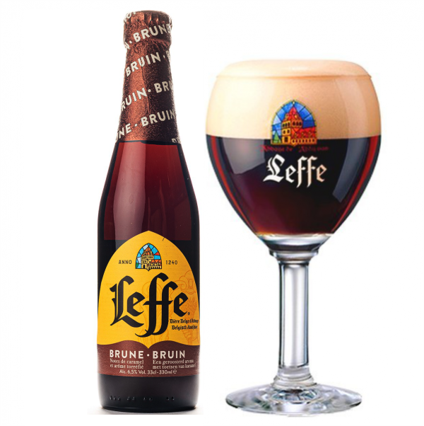 Bia Leffe Nâu 6,5% – Chai 330ml