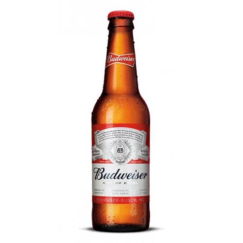 Bia Budweiser Mỹ Chai Thuỷ Tinh 5% – Chai 330ml – Thùng 24 Chai