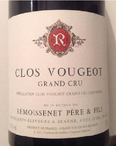 Clos De Vougeot, Remoissenet Peres & Fils