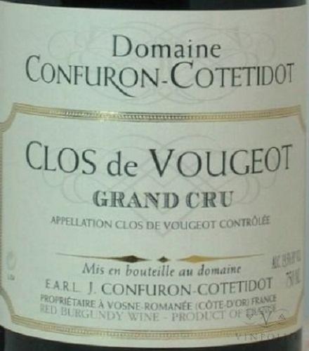 Clos De Vougeot, Domaine Confuron Cotetidot