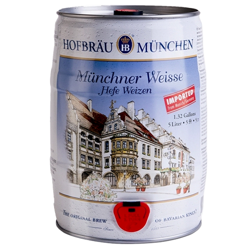 Bia Hofbräu Munchner Weisse Hefe Weizen 5,1% – Bom 5 Lít