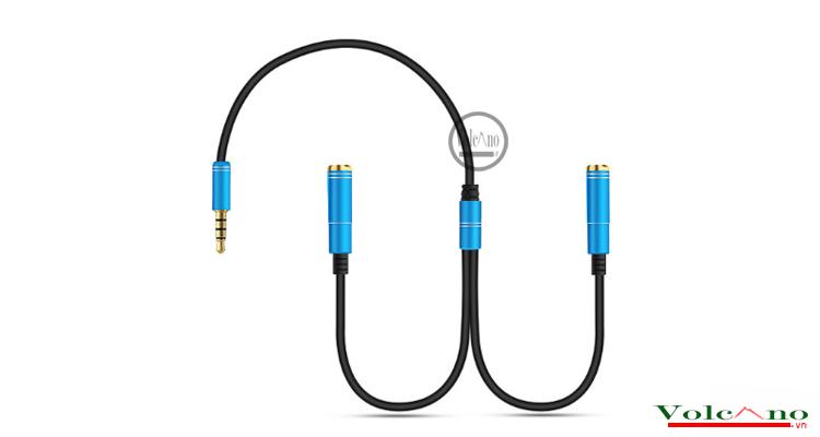 Cáp chia tai nghe 1 đầu cực 3.5MM ra 2 chân 3.5MM chữ Y (Ảnh 2)