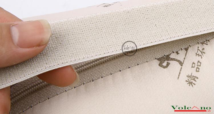 Bộ 02 gối tựa đầu ô tôvỏ sợi lụa đan chống nóng (đen) (Ảnh 5)