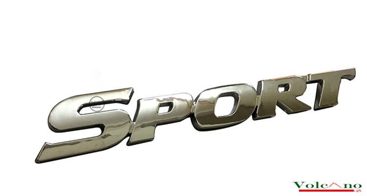 Logo nổi Sport dán trang trí xe-SP02 (Ảnh 1)