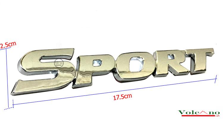 Logo nổi Sport dán trang trí xe-SP02 (Ảnh 2)