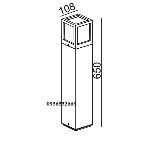 Đèn cột sân vườn panasonic NGL8434