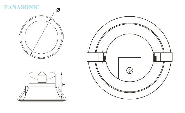 LED downlight âm trần panasonic 12W-NDL126