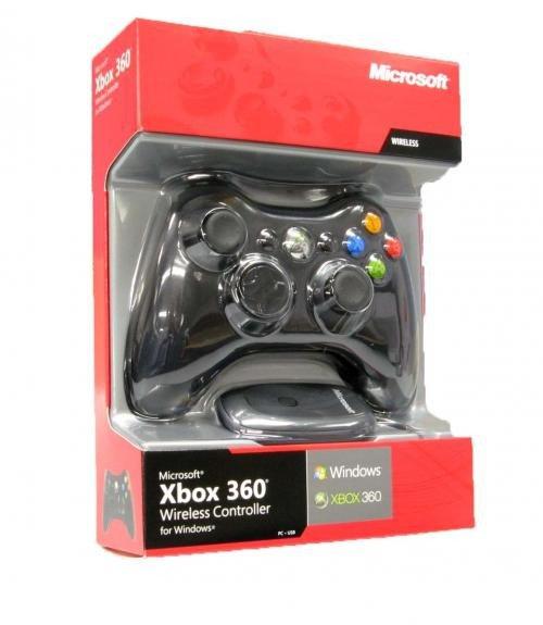 Tay cầm chơi game Xbox 360 Không Dây Receiver cho PC (Đen)